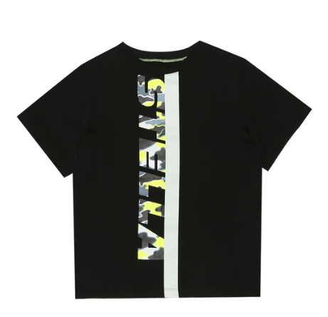 Stella McCartney Kids Black Cotton Logo T-Shirt