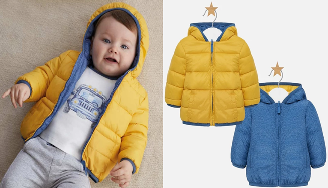 Mayoral Baby Boy Reversible Coat