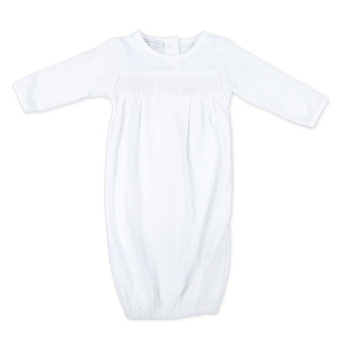 Magnolia Baby Essentials Smocked White Gown