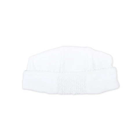 Magnolia Baby Essentials White Smocked Hat