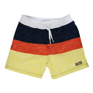 BOSS Baby Boys Striped Swim Shorts