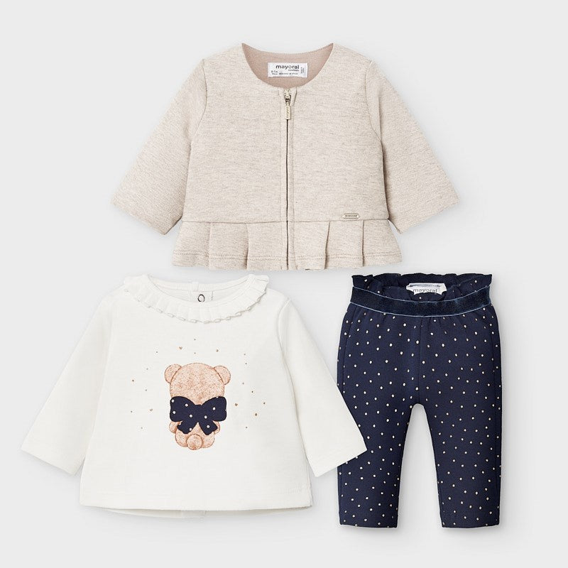 Mayoral Newborn 3 Piece Trousers Set