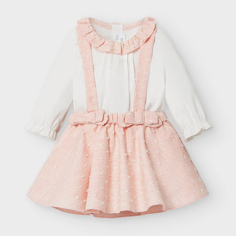 Mayoral Baby Girls Plumeti Skirt Set Blush Pink
