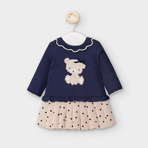 Mayoral Navy Blue Cotton Dress