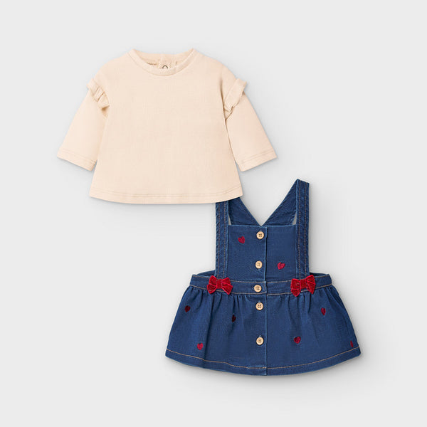 Mayoral Girl Denim Dungaree Dress