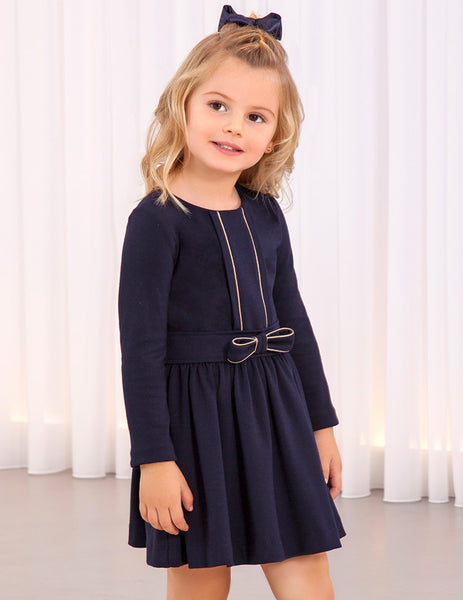 Abel & Lula Navy Knitted Dress