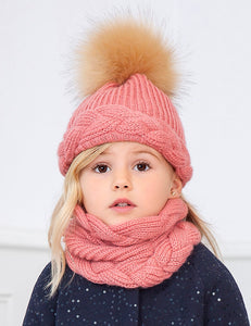 Abel & Lula 3 Piece Knitted Hat Set Pink