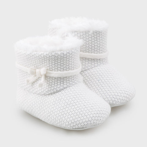 Mayoral Baby Girl White Booties