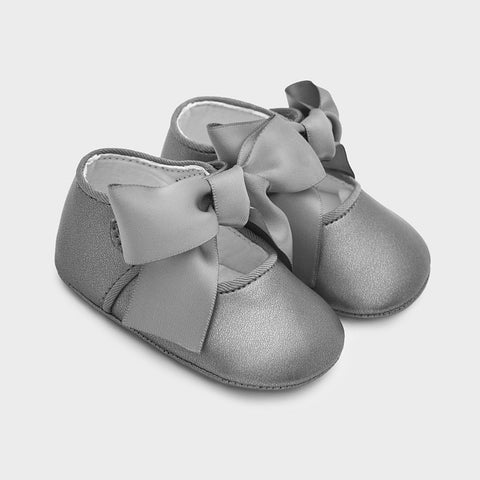 Mayoral Baby Girl Bow Shoe Gray