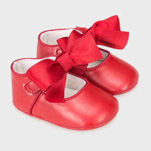Mayoral Baby Girl Bow Shoes Red