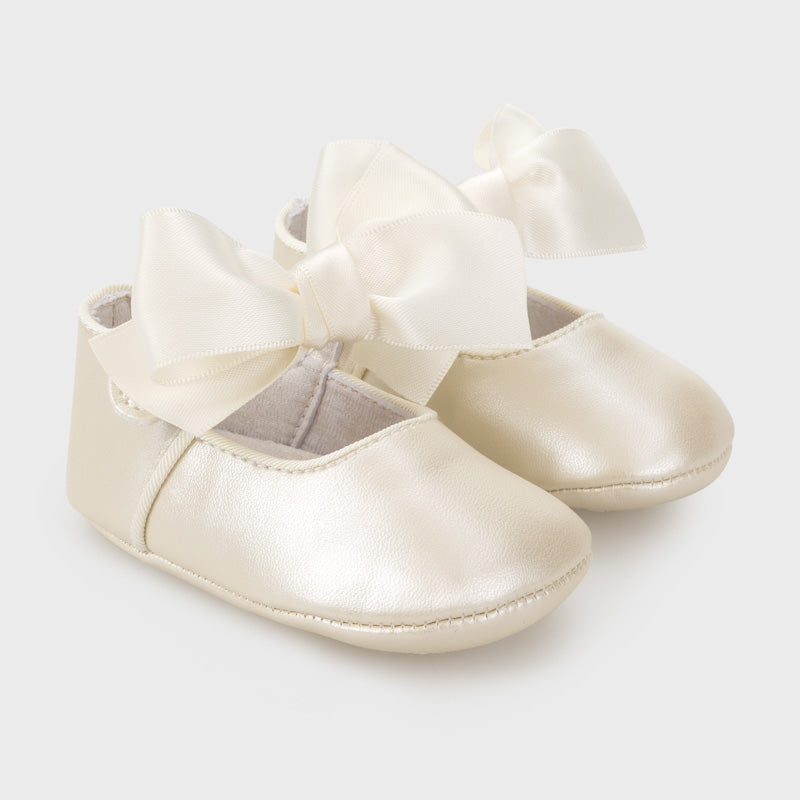 Mayoral Baby Girl Bow Shoes Gold