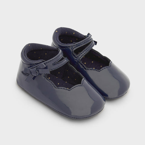 Mayoral Baby Girl Patent Leather Mary Janes in Navy