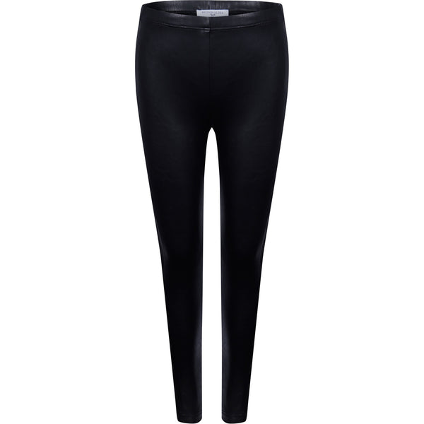 Monnalisa Black Eco Leather Leggings