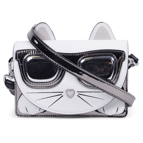Karl Lagerfeld Girls Silver Cat Bag