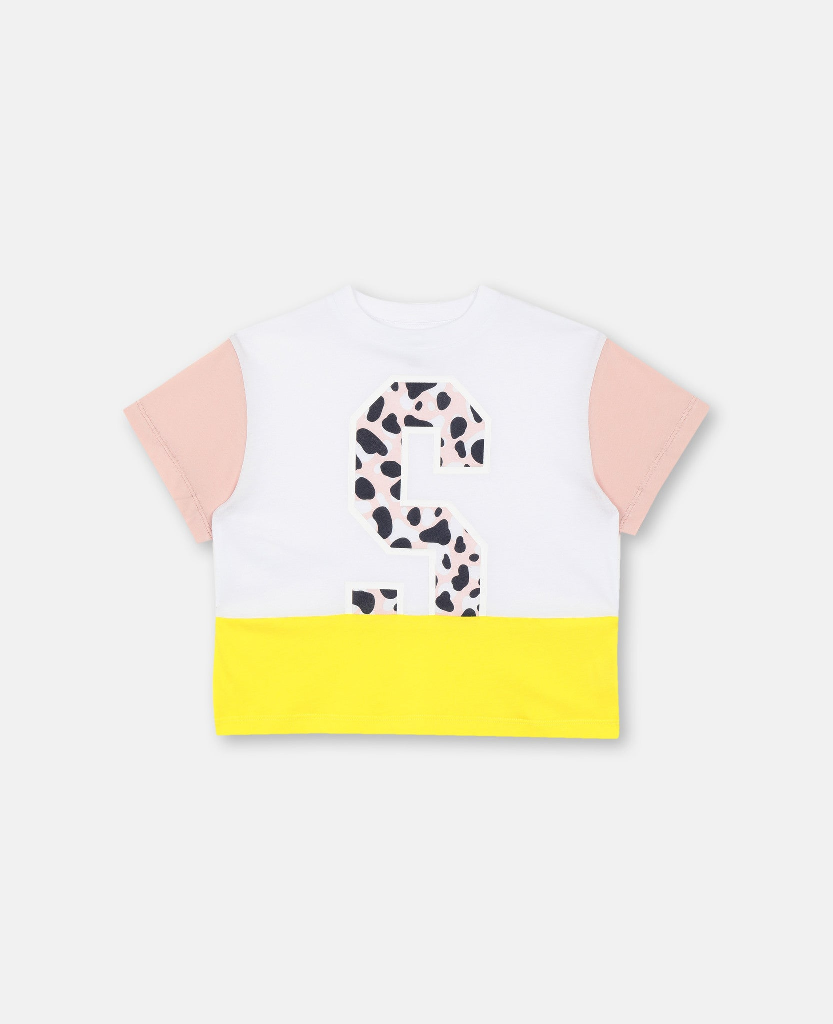 Stella McCartney Kids Girls Camo Letter T-Shirt