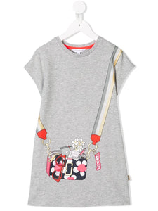 Little Marc Jacobs Grey Jersey Purse Dress