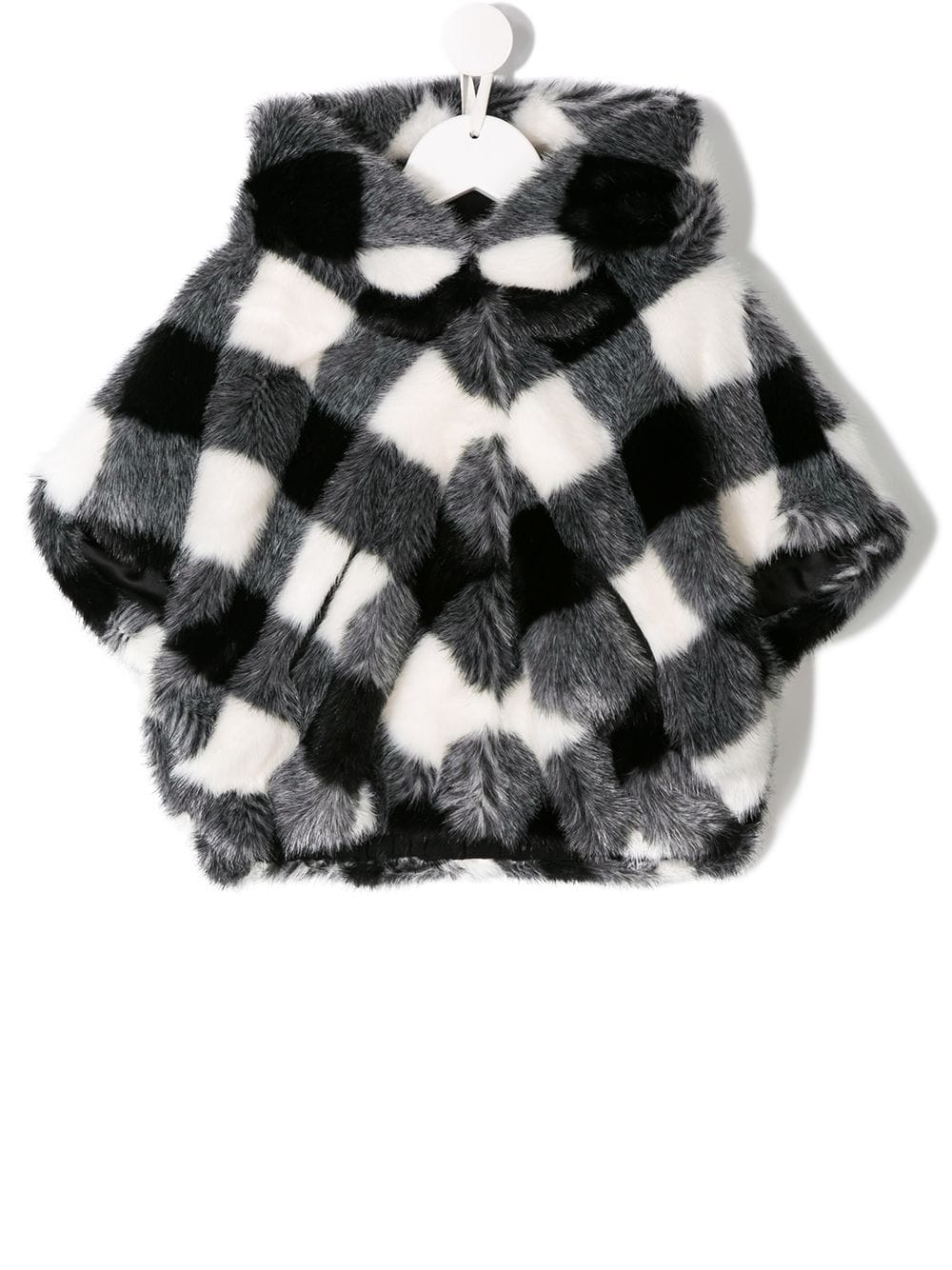 Monnalisa Faux Fur Checked Jacket