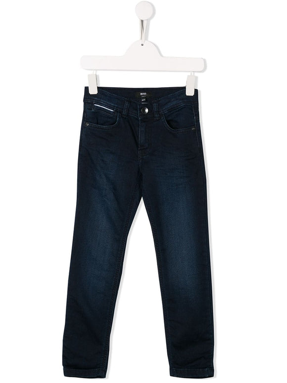 BOSS Boys Blue Slim-Fit Denim Jeans