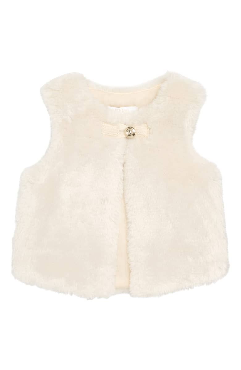Chloe Girls Fur Gilet