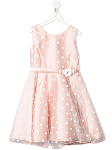 Abel & Lula Light Pink Polka Dot Dress