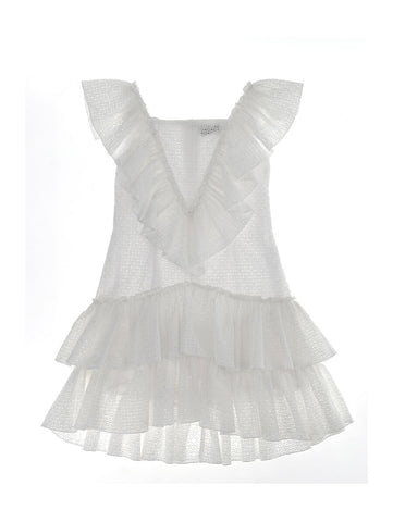 Monnalisa White Broderie Anglaise Dress