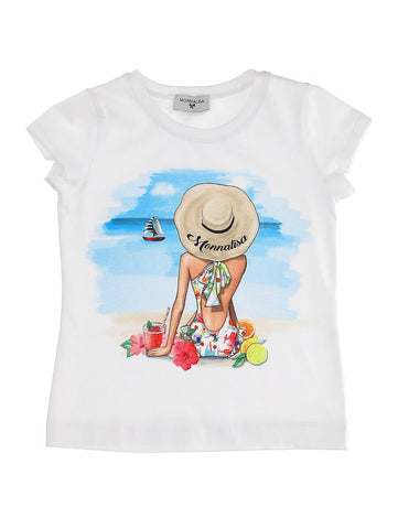 Monnalisa Girls on Beach T-Shirt
