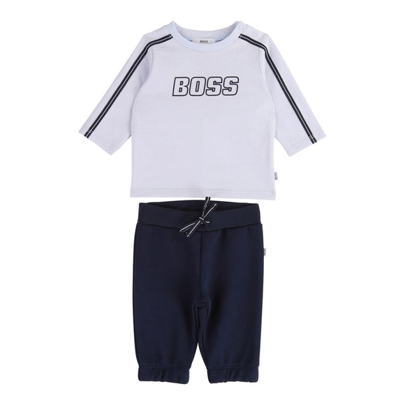 Boss Baby Blue Cotton Joggers Set
