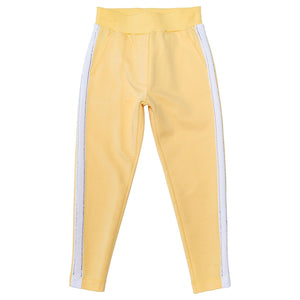 Monnalisa Girls Yellow Tracksuit Pant