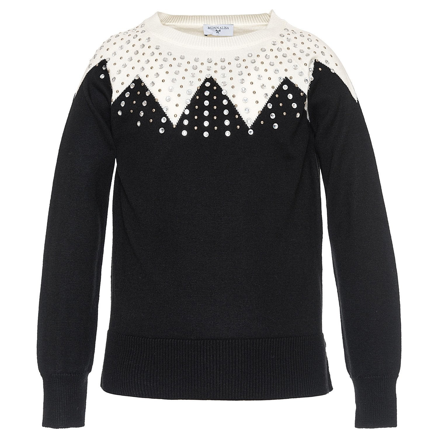 Monnalisa Girls Rhinestone Sweater