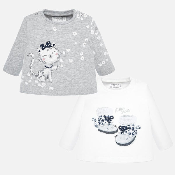 Mayoral Baby Girl Cotton Top Set of 2