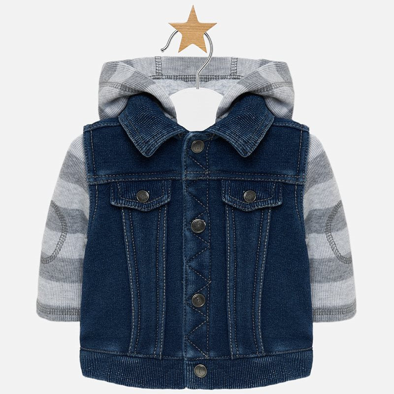 Mayoral Baby Boy Denim Print Jacket