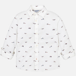 Mayoral Boys White Cotton Shirt