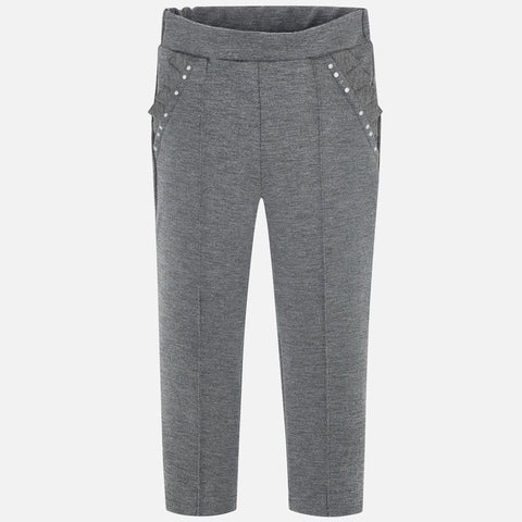 Mayoral Grey Viscose Jersey Trousers