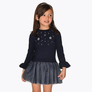 Mayoral Girl Navy Voile Dress