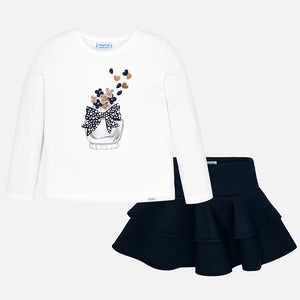 Mayoral Girls 2 Pcs Skirt Set