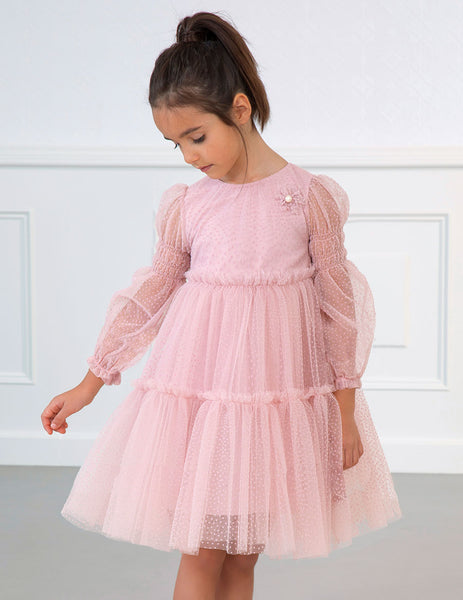 Abel & Lula Plumeti Tulle Pink Dress
