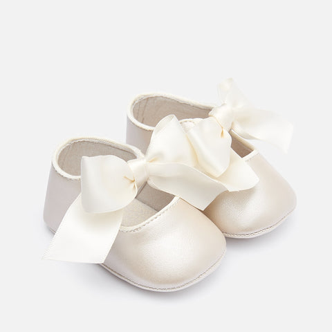 Mayoral Baby Girl Bow Shoes Pearl
