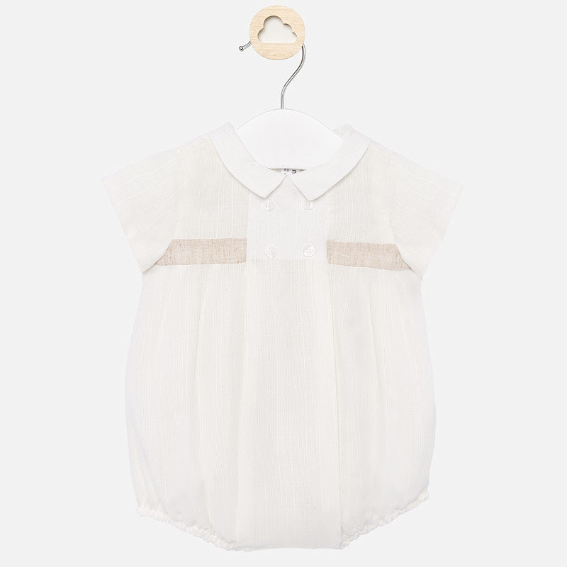Mayoral Ivory Cotton Blend Ceremony Shortie