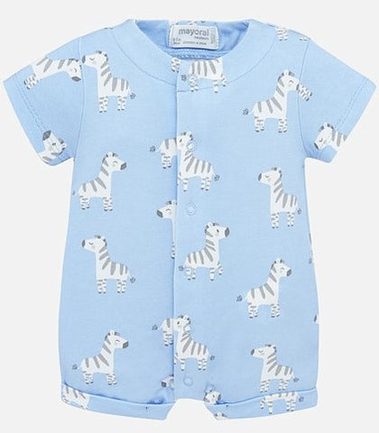 Mayoral Zebra Blue Short Pajama