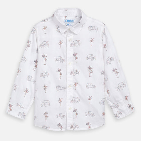 Mayoral Boys Stamp Long Sleeve Shirt