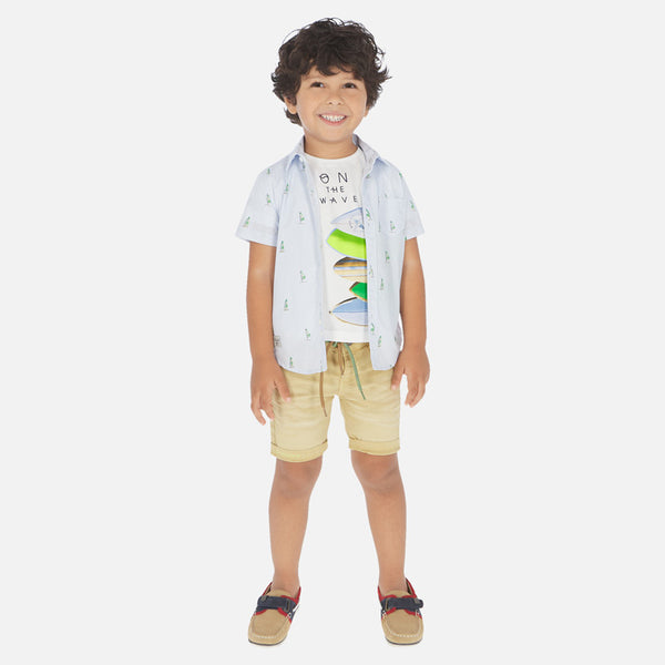 Mayoral Boys Cotton Bermuda Shorts Mustard