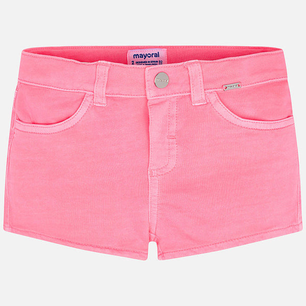 Mayoral Girls Neon Pink Shorts