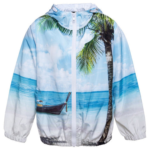 Monnalisa Boys Hawaiian Nylon Windbreaker