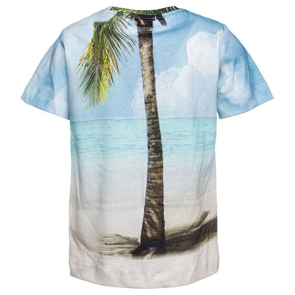 Monnalisa Boys Hawaiian Beach Cotton T-shirt