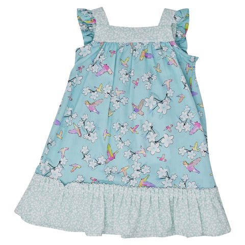 Dr. Kid Girls Hummingbird Garden Dress
