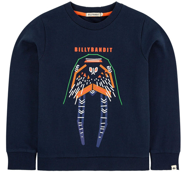 Billybandit Boys Blue Cotton Sweatshirt