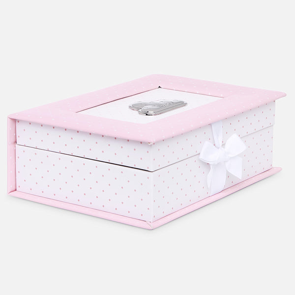 Mayoral Baby Pink Polka Dot Memory Box