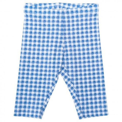 Monnalisa Bebe' Blue Cotton Gingham Leggings