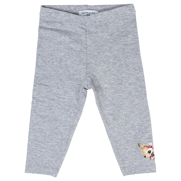 Monnalisa Baby Girl Cotton Legging with Fawn