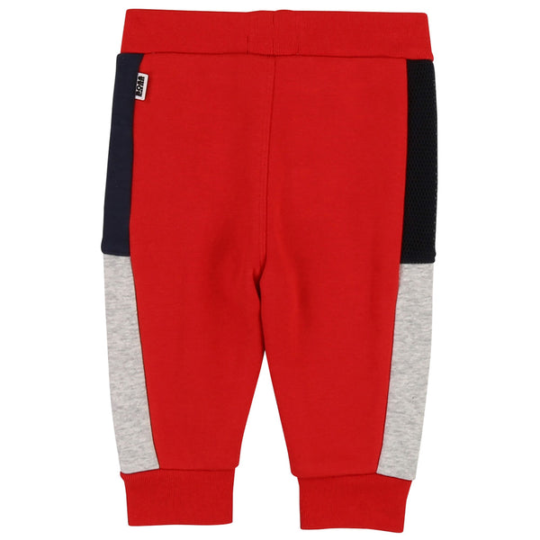 BOSS Boys Red Cotton Joggers
